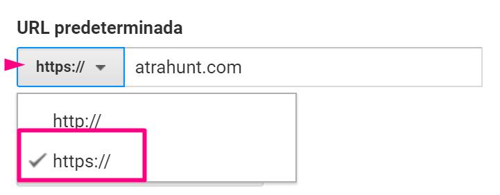 Seleccionar-URL-predeterminada