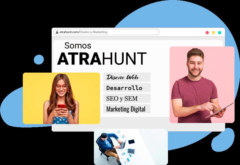 Marketing digital y diseno web atrahunt